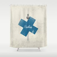 berlin Shower Curtains featuring Berlin by Amir Tanne