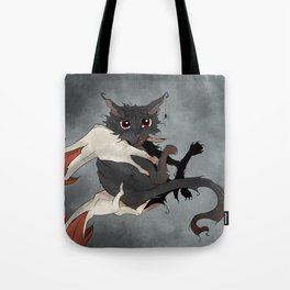 Naughty Vampire Cat Tote Bag