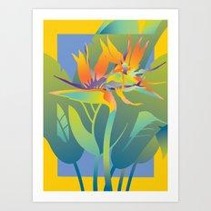 Yellow Paradise Art Print
