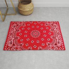 Paisley - Bandana Art - Red - Southwestern Rug