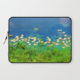 Autumn leaves on water 4 Laptop Sleeve