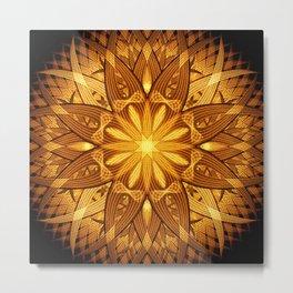 Sun Flower Mandala Metal Print