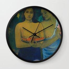 Paul Gauguin - Two Tahitian Women (1899) Wall Clock