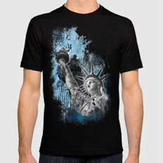 Lady Liberty Black Mens Fitted Tee MEDIUM