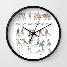 "Fencing ""Quick fencing history"" Wall Clock"