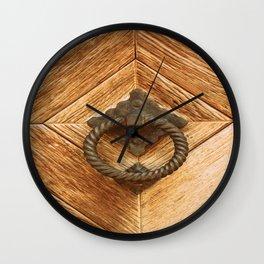 Door Knocker III Wall Clock