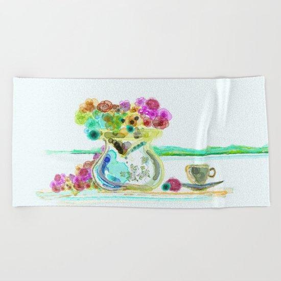 morning tea Beach Towel