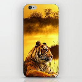 Tiger and Sunset iPhone Skin