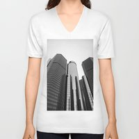 renaissance V-neck T-shirts featuring Renaissance Center by Starr Cuevas Photography