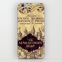 bown map iPhone Skin