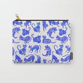 Cat Positions – Blue Palette Carry-All Pouch
