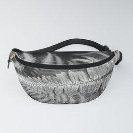 Fern Black & White Fanny Pack