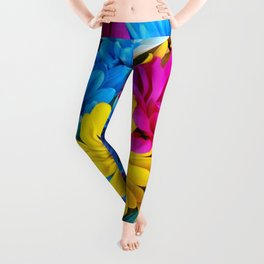Colorful spring flowers Leggings