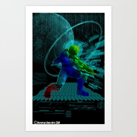 Halo Splash Art Art Print