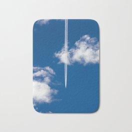 Plane in the sky Bath Mat