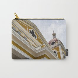 Looking up at the Exterior of the Yellow Granada Cathedral in Downtown Granada, Nicaragua Carry-All Pouch