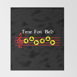 Time For Bed - Zeldas Lullaby (The Legend Of Zelda: Ocarina Of Time) Throw Blanket