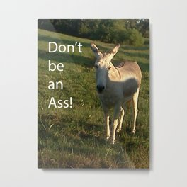 Don't be an Ass Metal Print