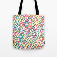 ikat Tote Bags featuring IKAT by  Ray Athi