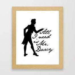 Mr. Darcy Framed Art Print