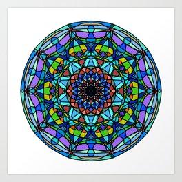Vector indian Mandala Art Print