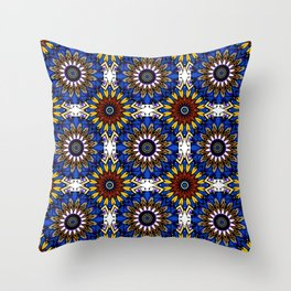 The Damascus pattern . Throw Pillow