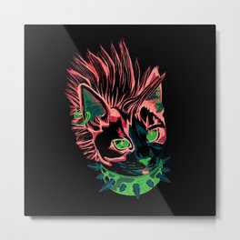 Punk Kitty Metal Print