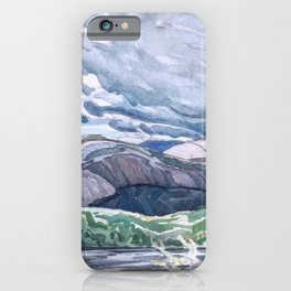 Franklin Carmichael - Lake La Cloche Stormy Sky - Canada, Canadian Watercolor Painting iPhone Case