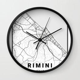 Rimini Light City Map Wall Clock