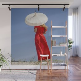Lady in Red II Wall Mural