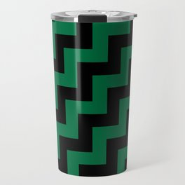 Black and Cadmium Green Steps RTL Travel Mug