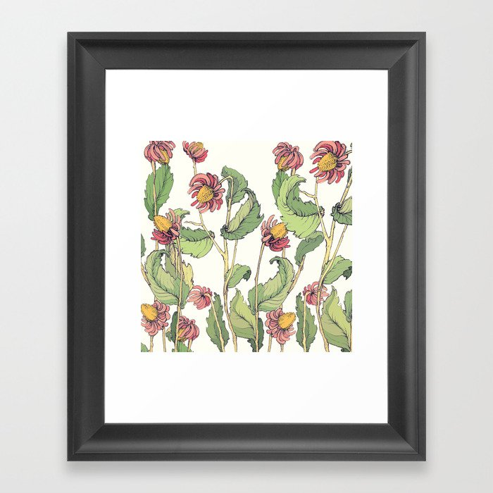 cute flowers Framed Art Print
