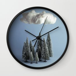 A cloud over the forest Wall Clock