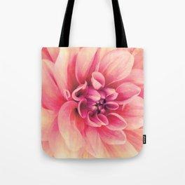 Her Smile (Spring Blooming Rose Pink Dahlia) Tote Bag