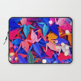 Senbazuru | pink and blues Laptop Sleeve