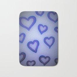 Blue Glow Hearts Bath Mat