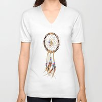 dream catcher V-neck T-shirts featuring Dream catcher by North America Symbols and Flags