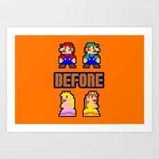 Super Mario Bros Before Hoes Art Print