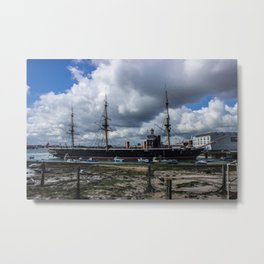 HMS Warrior Portsmouth Historic Dockyard UK Metal Print