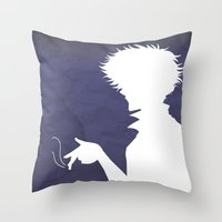 cowboy bebop Throw Pillows featuring Cowboy Bebop ver 2 by AWAL