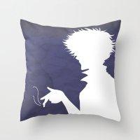 bebop Throw Pillows featuring Cowboy Bebop ver 2 by AWAL