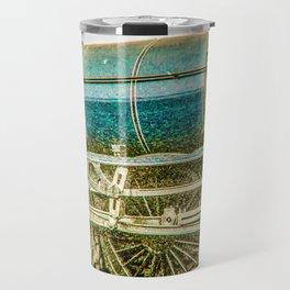 Tornado in blue bywhacky Travel Mug