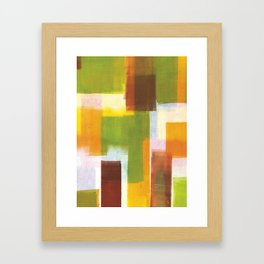 Color Block Series: Country Framed Art Print