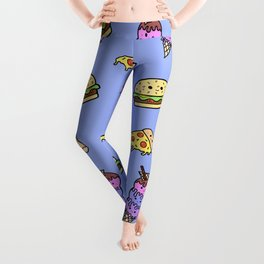Fast Food Cuties (Blue) Leggings