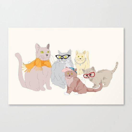 Accessory Cats Canvas Print
