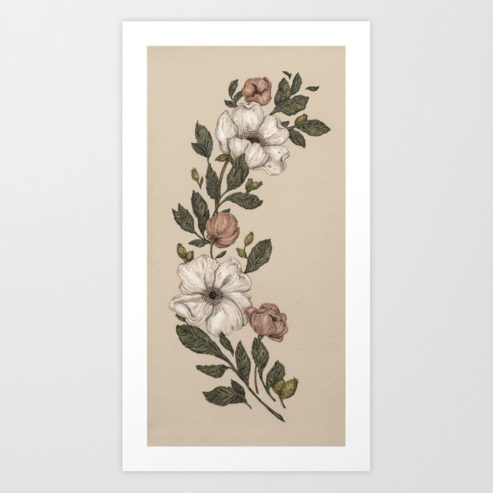 Floral Laurel Kunstdrucke