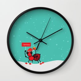 Busy Ant.Merry christmas Wall Clock