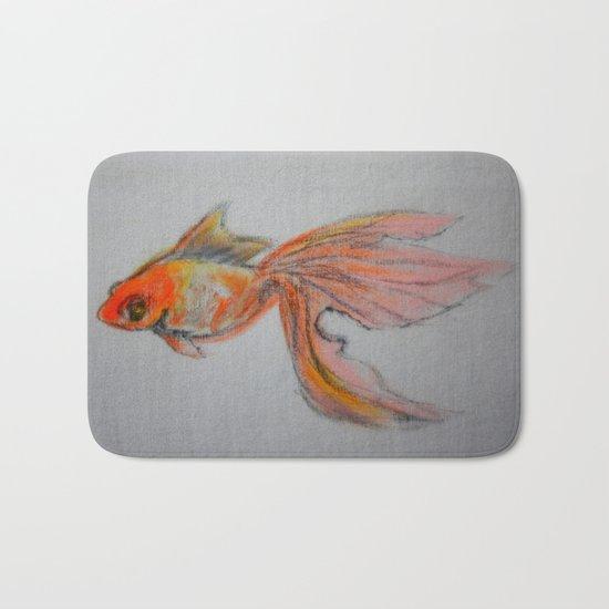 Goldfish Pond (close up #9) Bath Mat