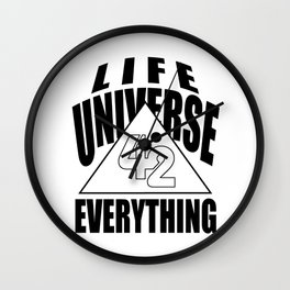 42 answer number time life universe joke gift Wall Clock
