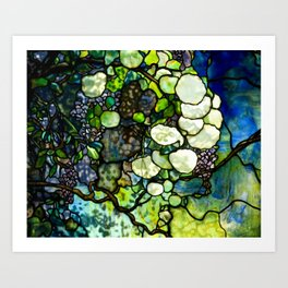 Louis Comfort Tiffany - Decorative stained glass 7. Art Print
